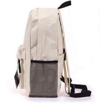 Pokemon Go Plus Laptop Backpack With Hidden Back Pocket (Cream) - 3