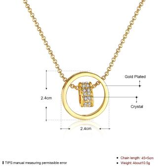 Popcorn N591 Gold Plated Beads Chain Heart & Ring Pendant Necklace - 2