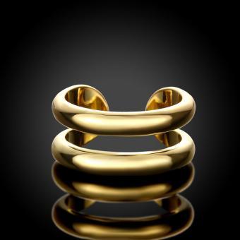 Popcorn R064-A Korea Bicyclic Opening & Adjustable WeddingRing(Gold) - 3