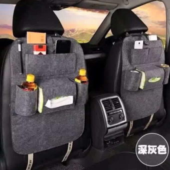 Portable Car Backseat Organizer Set of 2 (Grey) - 4