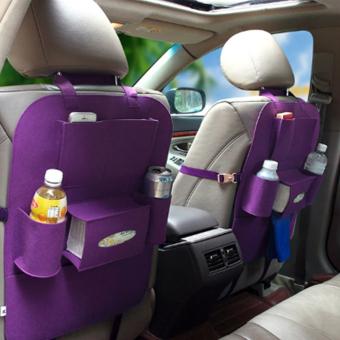 Portable Car Backseat Organizer (Violet) - 3