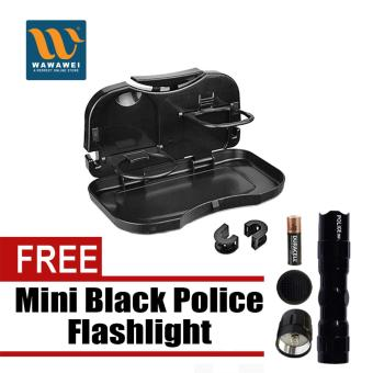 Portable Car Travel Dining Tray with free Mini Black PoliceFlashlight