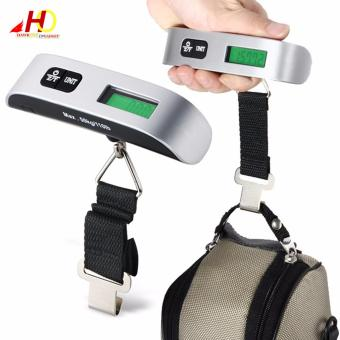 Portable Electronic Luggage Scale Max 50 kg/110lb (Sliver)