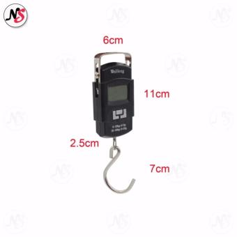 Portable Hanging Electronic Digital Weighing Scale 50kg WH-A08 (Black) - 4