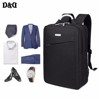 """PRINCE TRAVEL Men's 15"""" Notebook Laptop Oxford Fabric Backpack Business&Leisure Double Shoulders Bag (Black)"""