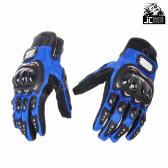 Pro-Biker Motorcycle Riding Hand Full Finger Protection Gloves M (Blue)