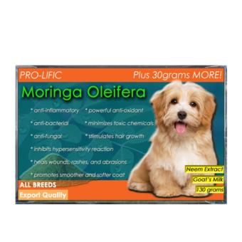 Prolific Moringa, Oatmeal, and Tea Tree Organic Soap for Cat and Dog 130g with Free Fish Oil 30 Soft Gels - 3