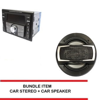 Proline GPX-99BT Car Stereo (Black) bundle with Car Speaker TX-4095 (Black)