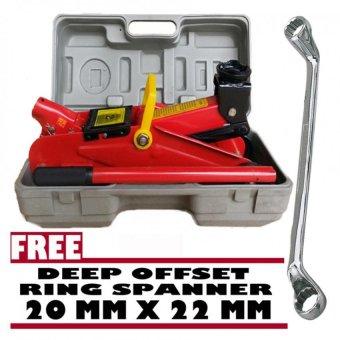 Prostar 2 Ton Floor Jack 330 mm Max Lift with Free Venus Wrenc 20 x 22 mm
