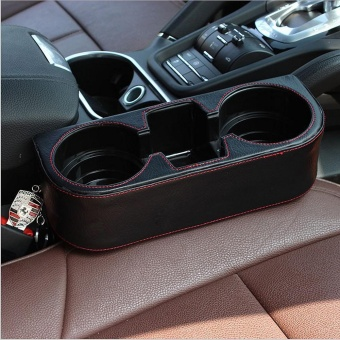 PU Leather Car Seat Cup Holder Car Storage Box Stowing Tidying Universal Auto Drink Holder Phone Holder Stand - intl - 2