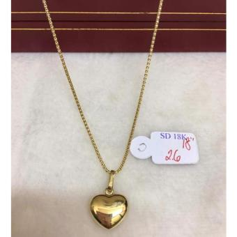 Pure Saudi Gold 18K Necklace with Chain Heart 2.6g