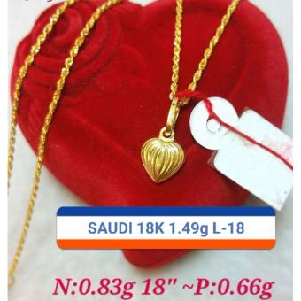 Pure saudi gold 18k necklace with heart pendant 149g l 18 pure saudi gold 18k necklace with heart pendant 149g l 18 aloadofball Gallery