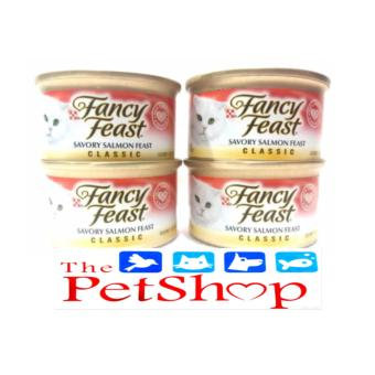 Purina Fancy Feast Savory Salmon Canned 85g (Set of 4)