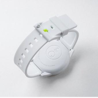 Q&Q SmileSolar White Rubber Strap Watch J001Y - 2