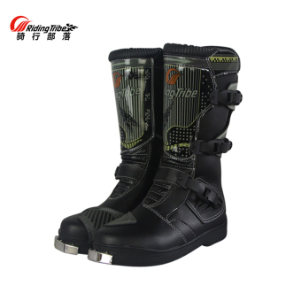 Race car bumper drop-resistant motorcycle footwear boots
