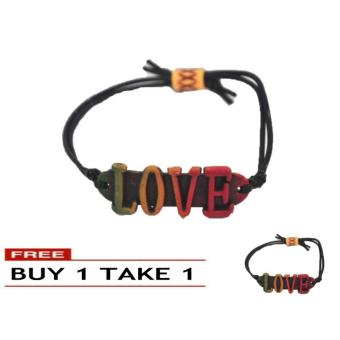 Rasta Color Handmade LOVE Coconut Surfer Style Adjustable Bracelet 7g BUY 1 TAKE 1 7g Price Philippines