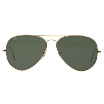 Ray-Ban Sunglasses Aviator Large Metal RB3025 - Gold (1) Size 62 Grey Green