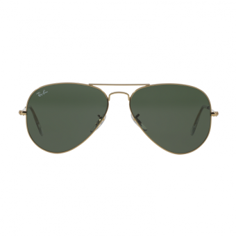 Ray-Ban Sunglasses Aviator Large Metal RB3025 - Gold (L0205) Size 58 Grey Green