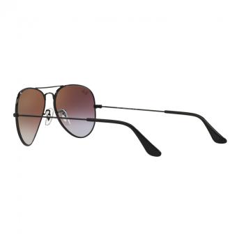 Ray-Ban Sunglasses Aviator Large Metal RB3025 - Shiny Black(002/4J) Size 58 Mirror Gradient Green - 5