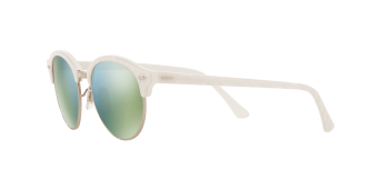 Ray-Ban Sunglasses Clubround RB4246 - Top Wrinkled White On White(988/2X) Size 51 Green Mirror Green - 3