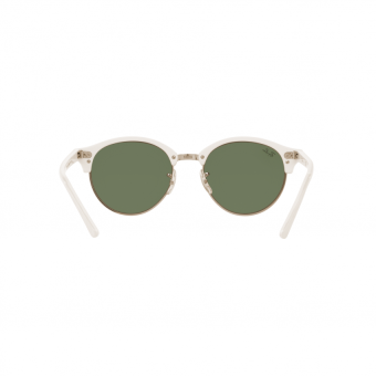 Ray-Ban Sunglasses Clubround RB4246 - Top Wrinkled White On White(988/2X) Size 51 Green Mirror Green - 5