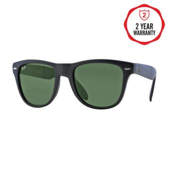 Ray-Ban Sunglasses Folding Wayfarer RB4105 - Matte Black (601S)Size 50 Crystal Green