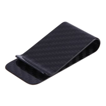 Real Carbon Fiber Money Clip Business Card Credit Card Cash WalletPolished and Matte for Options