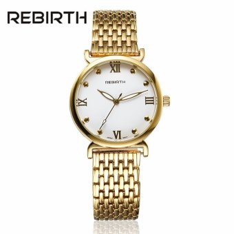 REBIRTH High Quality Luxury Men's Watch Stainless Steel Watch StrapQuartz Casual Watches for Women Gold Silver Wristwatch Clock - intl