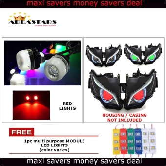 Red Motorcycle LED Light Eagle Eye DRL Light Bulb for Honda Click 125i