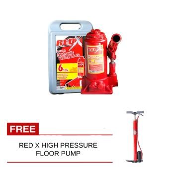 Red x Bottle Jack 6Ton with Free Red X High Pressure Floor Pump Price Philippines