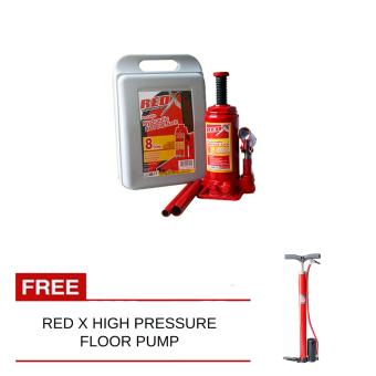 Red X Bottle Jack 8Ton With Free High Pressure Floor Pump Price Philippines