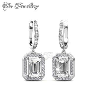 Regal Hoop Earrings - Crystals from Swarovski - 2
