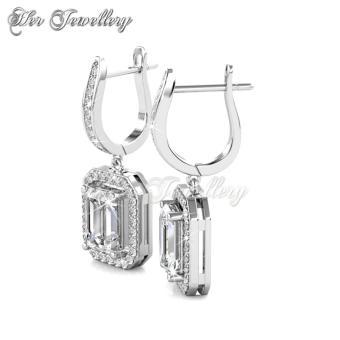 Regal Hoop Earrings - Crystals from Swarovski - 3