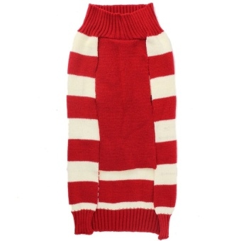 Reindeer Christmas Sweater Pet Puppy Cat Dog Striped Knit CoatClothes Big Size - intl - picture 2
