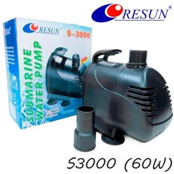 Resun S3000 Submersible Water Pump for Aquarium Pond FountainWaterfall - 60 Watts