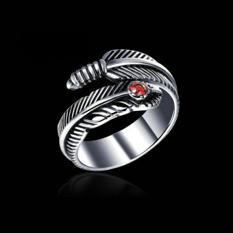 Retro feather eagle ring couple's Ring