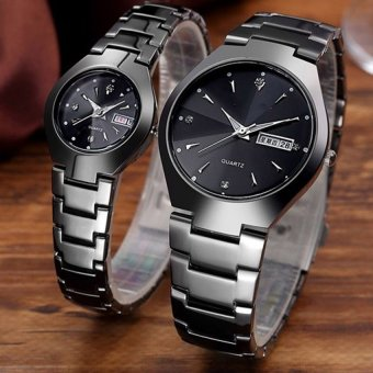 Retro Style Couple's Steel Strap Watch WH-Q356