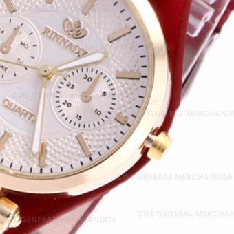 RINNADY-ST01 Women's Georga Watch Set of 3 (Red/Black/Green) - 5