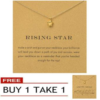 RISING STAR pendant necklace gold dipped Buy 1 Take 1