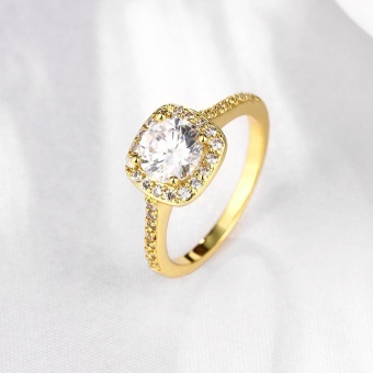 ROBBIE Jewelry Gold/Rose Gold/Silver Color Women Fashion Ring CubicZirconia Lovely Promise Engagement Ring - intl - 5