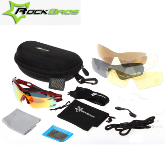 Detail Images RockBros Polarized Cycling Glasses UV400 Outdoor Extreme Sport Glasses Sunglasses 3 Colors Bicycle Bike Glasses For Men/Women + 5 Lens Ubdate