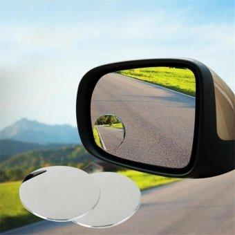 Rorychen 1Pair Auto Side 360 Wide Angle Round Convex Mirror CarVehicle Blind Spot Dead Zone Mirror RearView Mirror Small RoundMirror - intl