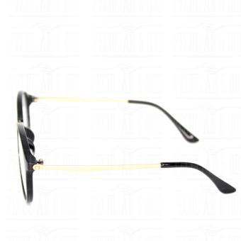 Round Full Rim Classic Sunglassses Clear Flash Unisex 633_BlackClear Unisex - 5