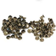 round rivets rapid studs 6mm antique brass set of 100 intl