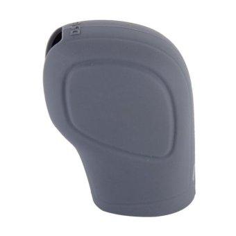Rubber Car Hand Brake Head Cover Shift Knob Gear Stick CushionCover Car Accessory Interior Decoration Pad(Grey) - intl - 3