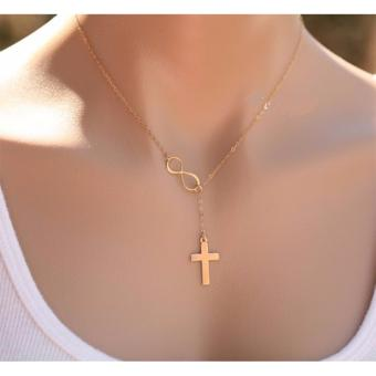 Rukia Gold Plated Infinity Symbol Cross