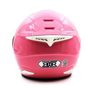 RXR 007 Open Face Motorcycle Girls Helmet(Pink) - 2