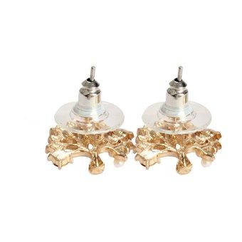 S & F Elegant Women Rhinestone Pearl Pierced Christmas Tree Earrings Ear Stud - Intl - picture 2