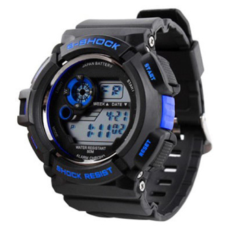 S-Shock Men's Blue/Black Rubber Strap Watch SKM-0939 - 3