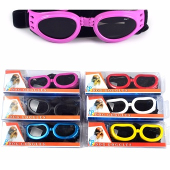 S size New Pet Goggles Small Dog Sunglasses Anti-Fog Anti-windGlasses Eye Protector Waterproof Skiing Sun UV Protection SafetyGoggles with Adjustable Straps For Dogs or Cats (Black) - intl - 5
